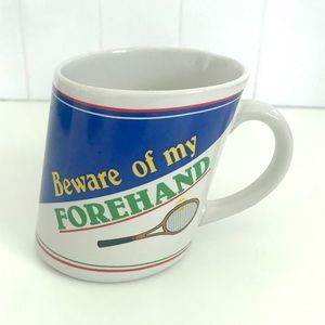Vintage Kitchen - Vintage 1980's novelty tennis coffee cup mug